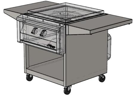 AGVPC-C 24 Cart with Folding and Removable Side Tables  Caster Wheels  and Ships Fully Assembled For VersaPower Cooker Mode
