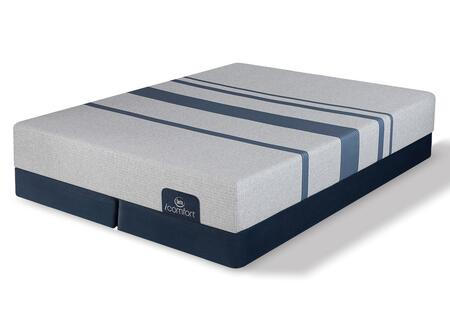 iComfort Foam 500800098CKMFDLP Mattress + Foundation Set with Blue 100 Gentle Firm California King Mattress and 2x Split Low Profile