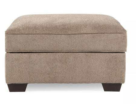 1290011 Patola Park Ottoman with Storage  Removable Cushioned Top  Cup Holders  Low Melt Fiber Wrapped Over Foam and Fabric Upholstery in Patina