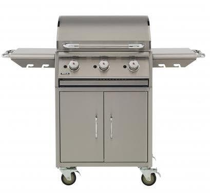 73008 Commercial Style Stainless Steel Liquid Propane Griddle Cart with 45000 BTU  Cast Iron Chromium Plated Griddle  Welded SS Burners  and 24 Cart Bottom