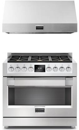 2 Piece Kitchen Package With F6PDF366S1 36 inch  Dual Fuel Freestanding Range and F6PH36S1 36 inch  Professional Hood In Stainless