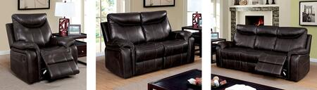 Karlee Collection CM6988-SLR 3-Piece Living Room Set with Motion Sofa  Motion Loveseat and Recliner in Dark