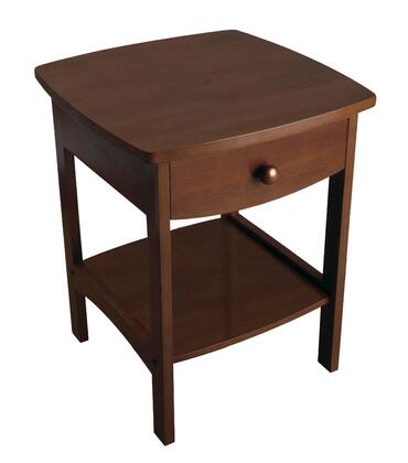 94918 Curved End table/Nightstand with One Drawer in Antique
