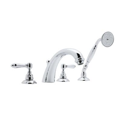A2104lmtcb Country Bath Collection San Julio 4-hole Deck Mount Bath Mixer With Fixed C-spout  Metal Levers And Handshower: Tuscan