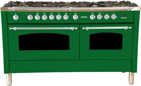 HGR6001DFGN 60 inch  Dual Fuel Natural Gas Range with 8 Sealed Burners  5.99 cu. ft. Total Capacity True Convection Oven  Griddle  in