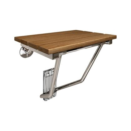 SHST-02-TN Natural Teak Folding Shower Seat. ADA Compliant Shower