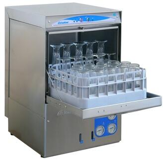 DSP3 Glass Washer With 2 minutes Wash Cycle  Wash and Rinse Temperature Thermometers  Stainless Steel Lower Rotating Wash Arms  Gravity Drain and Detergent