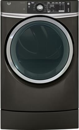 GE - RightHeight 8.3 Cu. Ft. 13-Cycle Gas Dryer with Steam - Diamond Gray GFD49GRPKDG