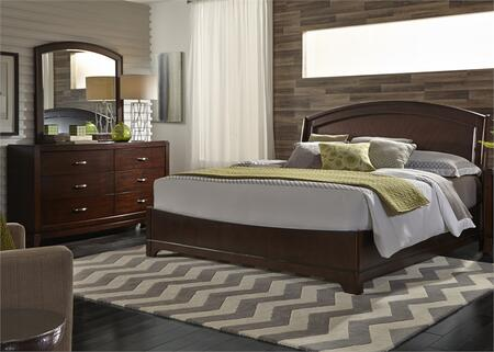 Avalon Collection 505-BR-KPLDM 3-Piece Bedroom Set with King Panel Bed  Dresser and Mirror in Dark Truffle
