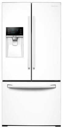"""RF26J7500WW 33"""" Wide  26 cu. ft. Capacity 3-Door French Door Refrigerator with CoolSelect Pantry  Twin Cooling Plus  and Ice Master Space-saving Design in"""