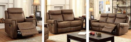 Geddes Collection CM6264-SLR 3-Piece Living Room Set with Motion Sofa  Motion Loveseat and Recliner in