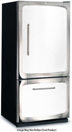 "3015-00R-WHT 30"" 18.5 cu. ft. Capacity Freestanding Bottom Freezer Refrigerator  Digital Temperature Control  Auto Defrost  Glass Shelves and Right Hinge Door"