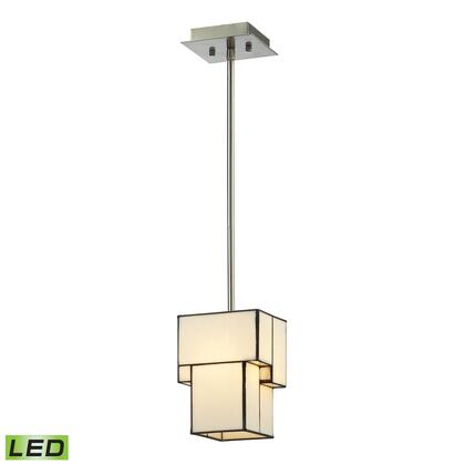 72062-1-LED Cubist Collection 1 Light mini Pendant in Brushed Nickel -