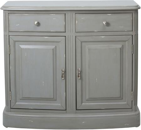 DS-D115004 Traditional Accent Chest with Plinth Style Base  Overlay Molding Detail and Two Drawers in Weathered