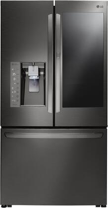 LG Door-in-Door® 29.6 Cu. Ft. French Door Refrigerator Black stainless steel LFXS30796D