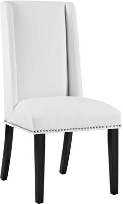 Eei-2232-whi Baron Vinyl Dining Chair  In
