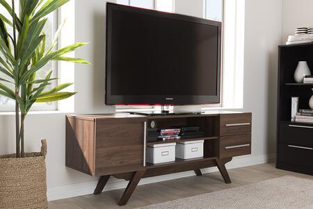 ET 3515-01-BROWN-TV Baxton Studio Ashfield Mid-Century Modern Walnut Brown Finished Wood TV