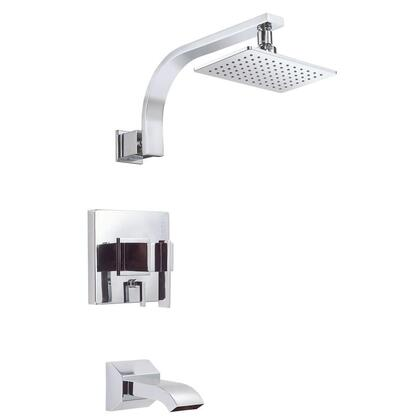 D512044T Sirius 1-Handle Pressure Balance Tub and Shower Faucet Trim Kit in Chrome