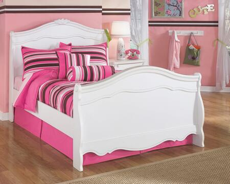 Exquisite Collection B188-84N/87N/88N Full Size Sleigh Bed with Arch Headboard and Footboard  Molding Details and Stylish Rosettes in