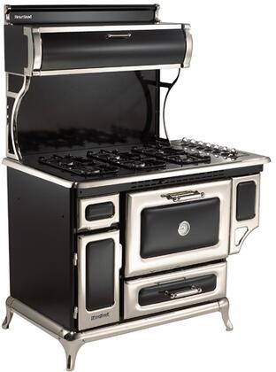 """Classic Series 7200-00P-BLK 48"""" Freestanding Liquid Propane Range with 6 Burners  3.6 cu. ft. Capacity  Broiler Drawer  350 CFM Exhaust System  & Electronic"""