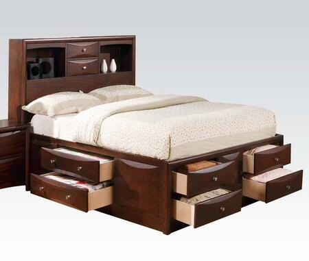 Manhattan Collection 04085F Full Size Bed with Storage Drawers  Brushed Nickel Hardware  Wood Veneer Materials and Engineered Wood Construction in Espresso