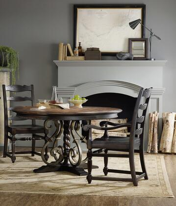 5374-RDTACSC 3-Piece Treviso Collection Dinining Room Set with Round Dining Table + 2X Side Chairs  in Dark