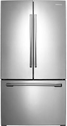 "RF260BEAESR 36"" French Door Refrigerator with 26 cu. ft. Capacity  Twin Cooling Plus System  High-Efficiency LED Lighting  CoolSelect Pantry and Auto Pull-out"