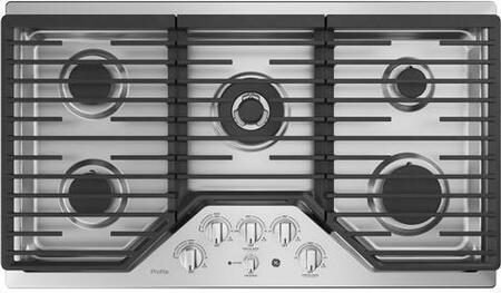 GE PGP9036SLSS 36 Inch Natural Gas Cooktop with 5 Sealed Burners