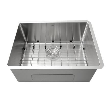 SR2318 - Pro Series Rectangle Single Bowl Undermount Small Radius Corners Stainless Steel Kitchen
