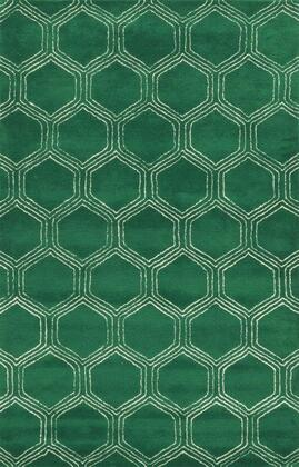 Gsagv873300300203 Gillespie Avenue Gv8733-2 X 3 Hand-tufted Premium Blended Wool With Viscose Accents Rug In Green  Rectangle