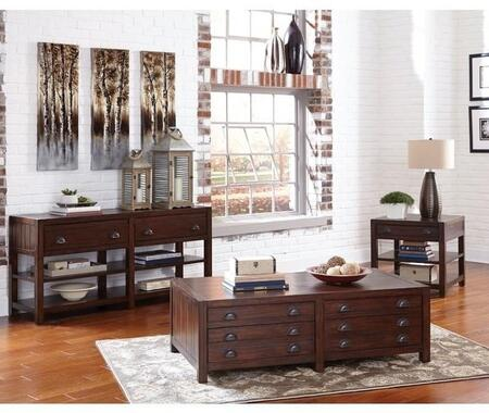 Home Accents Collection 720398SET 3 PC Living Room Table Sets with Coffee Table + End Table + Sofa Table in Vintage Cocoa