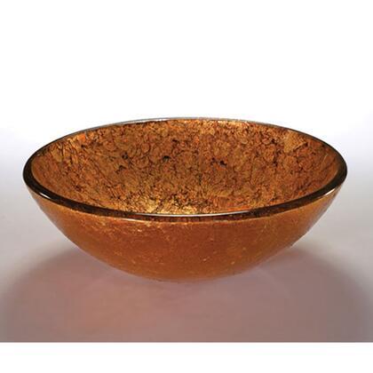 V90 Metallic Copper Field 16.5 inch  Art Glass Above the Counter Bathroom