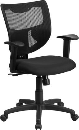 WL-F061SYG-MF-A-GG Galaxy Mid-Back Designer Back Task Chair with Adjustable Height Arms and Padded Fabric