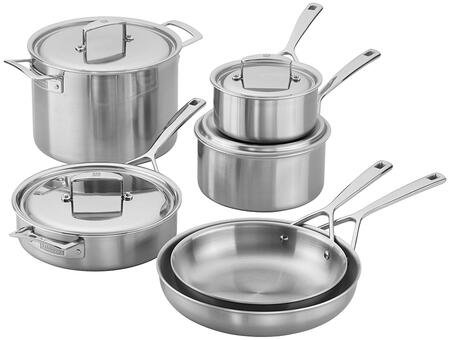 Zwilling 66080-000 Aurora 5-Ply Stainless Steel 10 Piece Cookware Set (Gas  Electric  Induction  Ceramic And Halogen Cooktops