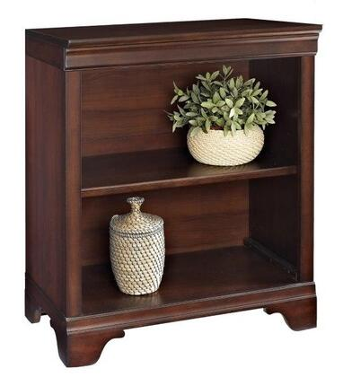 Belcourt ER-BLC-OBK31-D 30 inch  Tall 2-Shelf Bookcase with Molding Details  Fully Finished Side and Back Panels and Constructed with Wood Veneers in Cherry