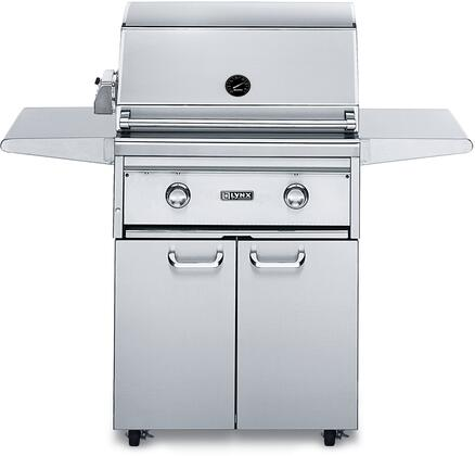 L27FR-2LP 27 inch  Gas Grill with 685 Sq. In. Cooking Surface  2-25 000 BTU Red Brass Burners  Infrared Rotisserie System and Smoker