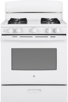 GE JGBS30DEKWW 30 Inch Freestanding Gas Range with 4 Sealed Burner Cooktop, in White