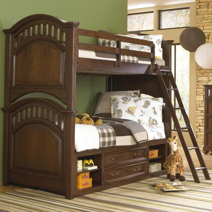 Expedition 84687303132SETA 2 PC Bedroom Set with Twin Size Bunk Bed + Underbed Storage Unit in Cherry