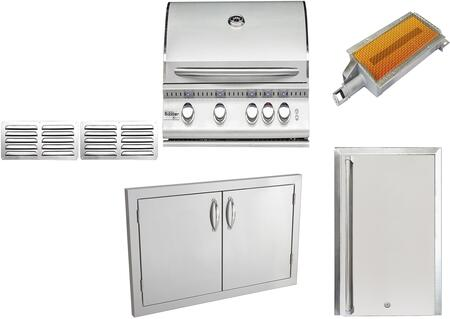 8-Piece Stainless Steel Outdoor Package with SIZ32LP 32