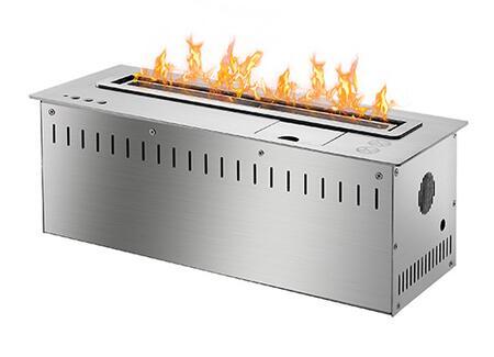 RSCFB4500 18 inch  Smart Burner Collection Bio Ethanol Fireplace Insert with Remote Controlled Smart Burner  8 840 BTU - 11 300 BTU  CO2 Sensor and Insualted Bottom