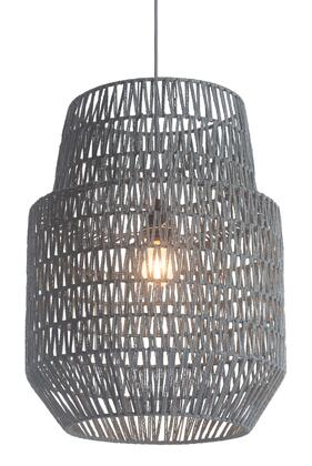 Daydream Ceiling Lamp with Two Level Bell Shaped Shade and Metal Architecture in
