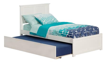 AR8622012 Madison Twin Platform Bed with Flat Panel Foot Board and Twin Size Urban Trundle Bed in