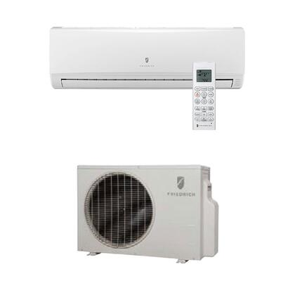 M12YJ Single Zone Ductless Split System with 11 200 BTU Cooling Capacity  13 300 BTU Heat Pump  Inverter Technology  4-Way Auto Swing  21.5 SEER