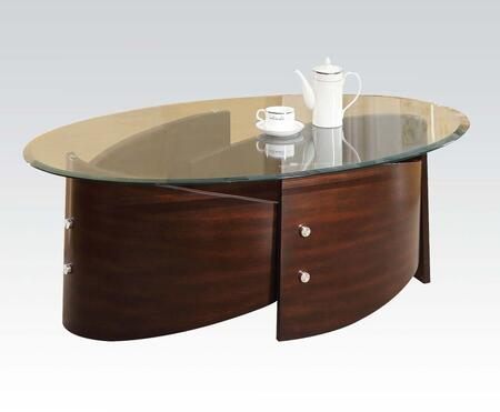 80193 Dajon Coffee Table with Glass Top in
