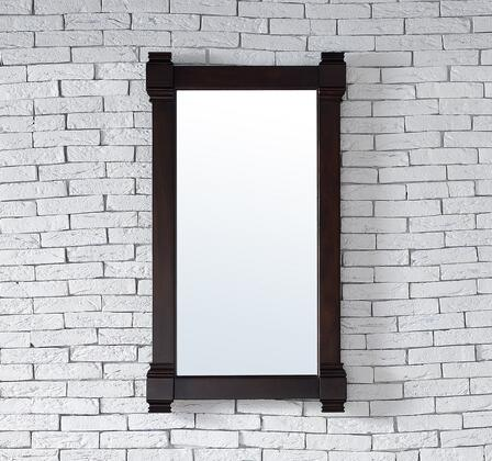 Brittany Collection 650-M22-BNM 22 inch  x 39 inch  Mirror with Solid Kiln-Dried Wood Frame and Molding Details in Burnished
