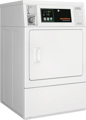 SDENCAGS173TW01 Single Load ADA Compliant Electric Dryer with 7 Cu. Ft. Capacity  QUANTUM Controls  Reversible Solid Door  Upfront Lint Filter  5 Temperature