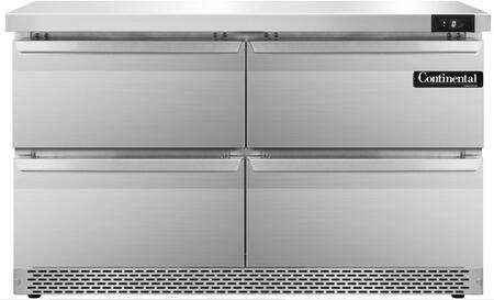 SWF48FBD 48 inch  Worktop Freezer with 4 Drawers  13.4 Cu. Ft. Capacity  Front Breathing Compressor  Aluminum Interior  Interior Hanging Thermometer  and