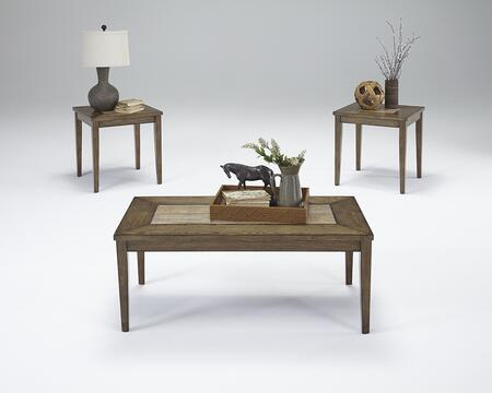 Forest Brook T278-95 3-Piece Table Set with 1 Cocktail Table and 2 End Tables in Ash and