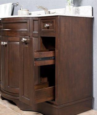 WF6815-48/DC Single Sink Wood Vanity With Granite Top and