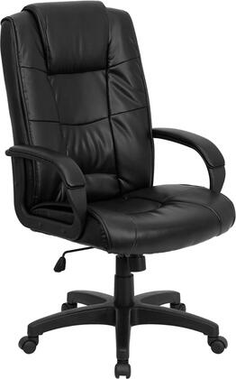 GO-5301B-BK-LEA-GG High Back Black Leather Executive Office
